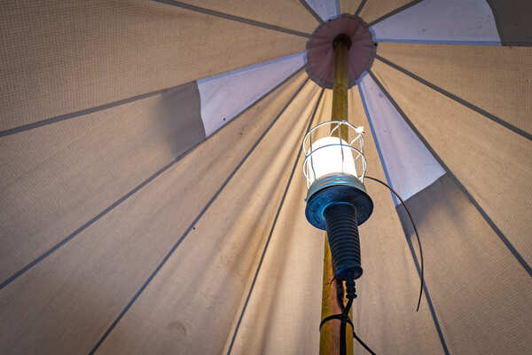 Verlichting camping Bell tent